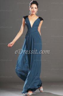 eDressit فستان السهرة الأزرق القاتم للبيع