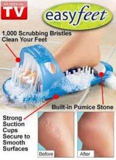 easy feet  لتنظيف وتدليك القدمين شبشب تدليك و تنظيف القدم