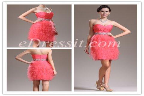 eDressit فستان الكوكتيل  المذهل الجديد بلا حمالة الكتف