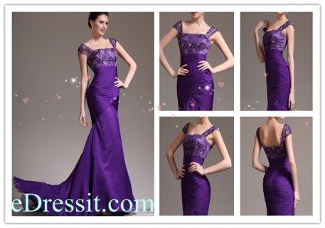 eDressit  فستان السهرة البنفسجي