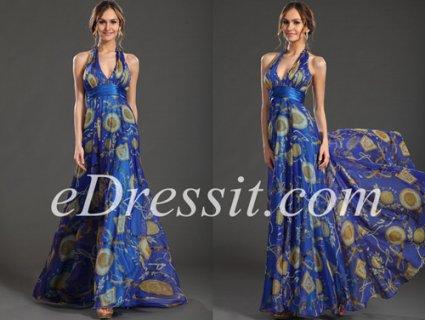 فستان السهرة المثير بطباعة الأزهار  eDressit