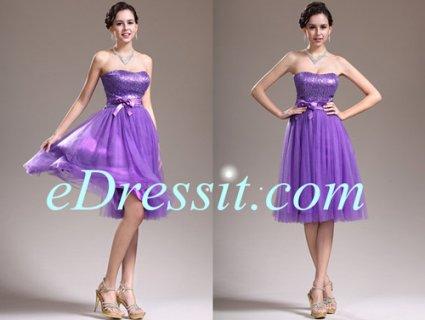 فستان الكوكتيل البنفسجي الجميل  eDressit
