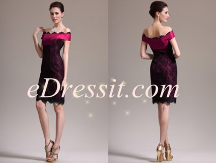 eDressit فستان كوكيتل الدانتيل الساحر الجدي