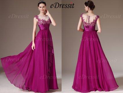 فستان السهرة الأرجواني للبيعeDressit