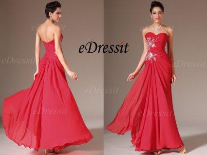 فستان السهرة الأحمر بيافة قلب الحبيبeDressit