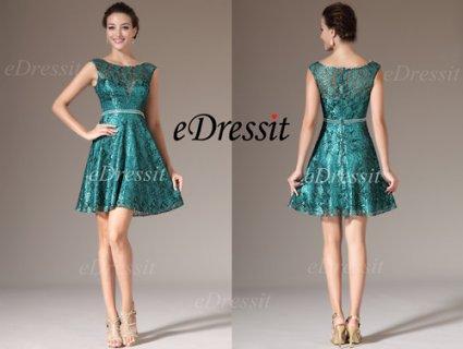 فستان كوكتيل الدانتيل الأخضرeDressit