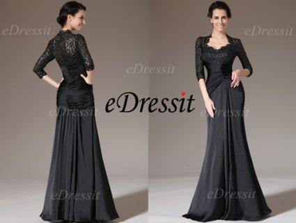 فستان أسود لأم العروس للبيعeDressit