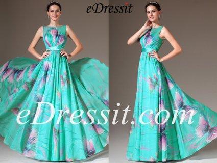 فستان السهرة بطباعة الأزهار