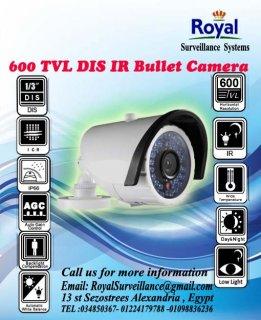 كاميرات المراقبة الخارجية 600TVL  بعدسات 6mm ذات مدى رؤية ليلية