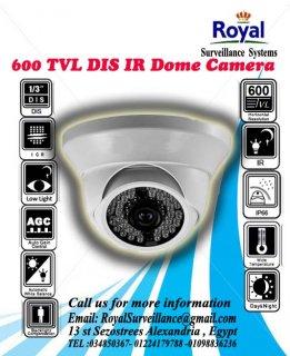 احدث انظمة مراقبة داخلية 600TVL  بعدسات 12 mm ذات مدى رؤية ليلية