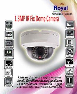 أحدث كاميرات المراقبة الداخلية IP 1.3 megapixel