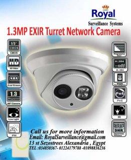 كاميرات مراقبة الداخلية IP 1.3 megapixel حتى 30 متر