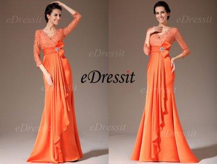 eDressit  فستان برتقالي جديد  لأم العروس