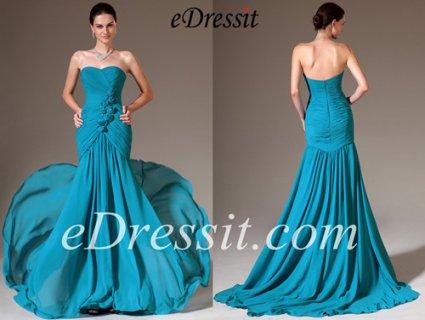 eDressit  فستان السهرة الأزرق الجديد العاري الكتف