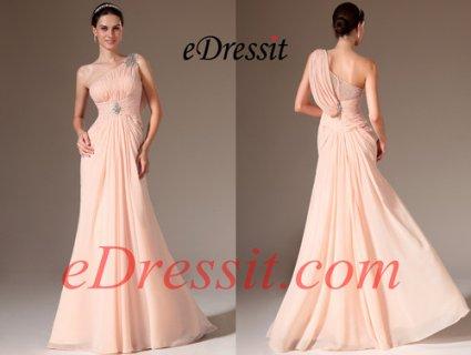 فستان وردي رسمي