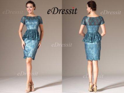 eDressit 2014 فستان الدانتيل الجديد بأكمام قصيرة لأم العروس