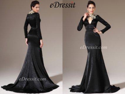 فستان السهرة الأسود الفاخرeDressit