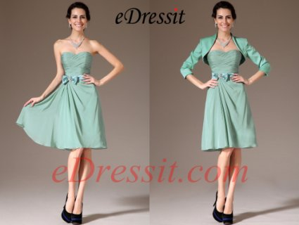 eDressit فستان قصير جديد بسترة فيروز لصديقة العروس
