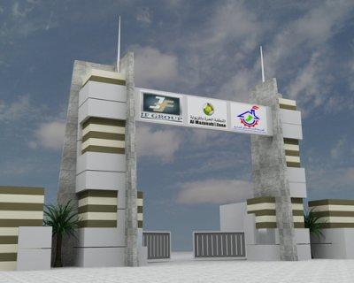 اراضى للاستثمار فى منطقة المزيونة الحرة عمان ( المتر 40 جنيه