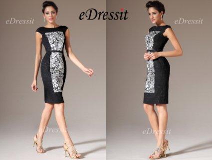 فستان أسود قصير eDressit