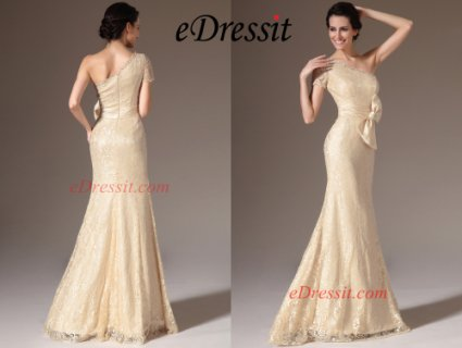eDressit 2014 فستان السهرة الشامباتيا الجديد بكتف واحد