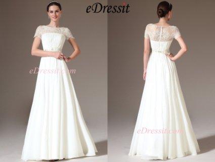eDressit 2014 فستان الزفاف الجديد بدانتيل التطريز للجزء العلوي