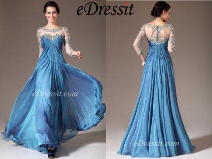 فستان أزرق جديد
