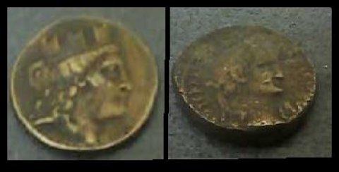 للبيع عملتان أثريتان من القرن الأول الميلادى
