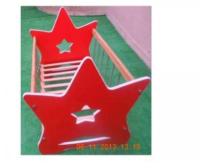 سرير اطفال على شكل نجمة الطول 90 سم العرض 60 الارتفاع 85 السعر