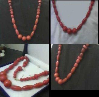لمن تعشق المجوهرات النادره للبيع عقد من المرجان الكاريبى