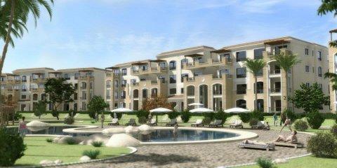 شقة نصف تشطيب بالتجمع مساحة 140 متر