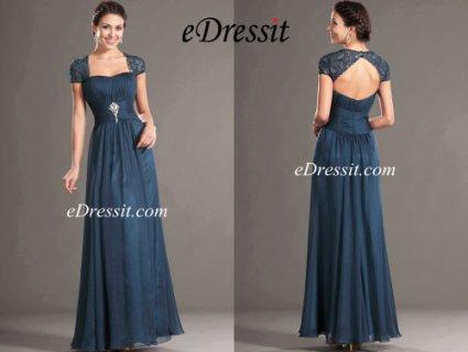 eDressit فستان رائج بأكمام الدانتيل لأم العروس