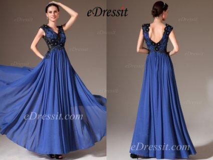 eDressit 2014 فستان السهرة الأزرق الجديد