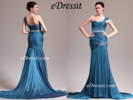 فستان السهرة الأزرق الجميل