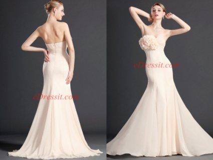 فستان أبيض جميل  eDressit