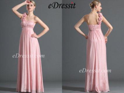eDressit فستان بكتف واحد لصديقة العروس