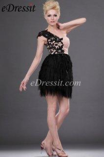 eDressit فستان الحفلة القصير الرائج الجديد بكتف واحد