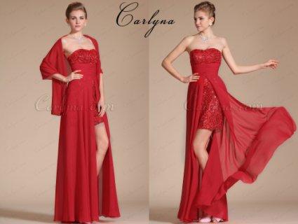 فستان السهرة الأحمر الجديد Carlyna2014