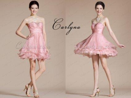 فستان الكوكتيل الوردي الجديد الحلو Carlyna2014