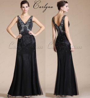 فستان السهرة الاسود الجديدCarlyna2014