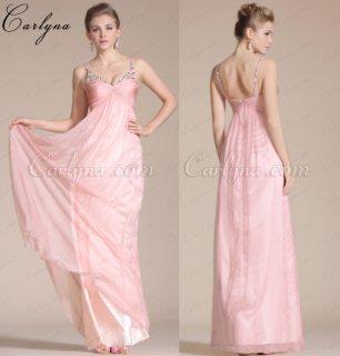 فستان السهرة الوردي أو لوصيفات الشرفCarlyna2014