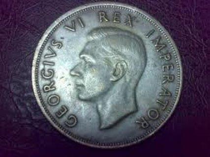 للبيع نصف جنيه استرلينى الملك جورج السادس 1950