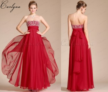 فستان السهرة الأحمر الساحر الجديد Carlyna 2014