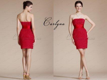 فستان الكوكتيل الأحمر الحلو Carlyna