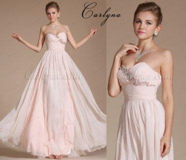 فستان السهرة الوردي الجديد الساحرCarlyna