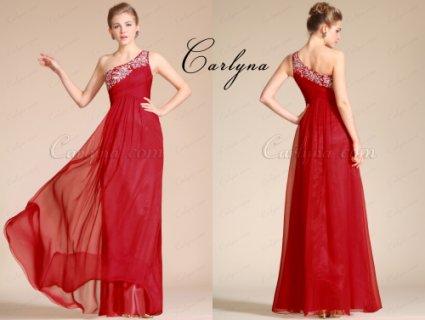 فستان السهرة الأحمر الجديد Carlyna 2014