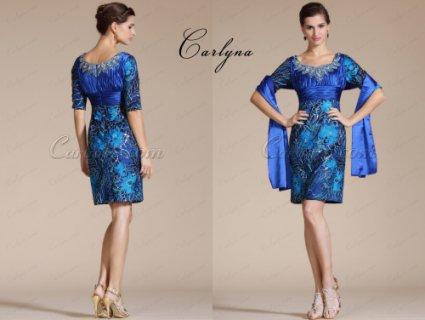فستان قصير أزرق للبيعCarlyna