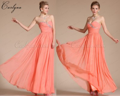 فستان برتقالي للبيعCarlyna 2014