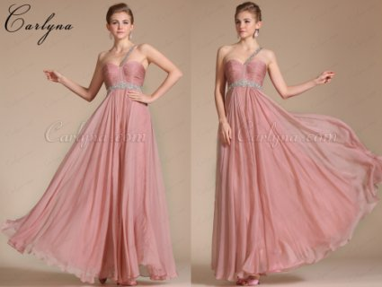 فستان وردي Carlyna