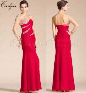 فستان السهرة الأحمر  Carlyna